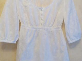 """Батистовая блузка bpc collection с вышивкой """"белым по белому"""""""