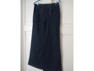 Женские брюки расклешенные джинсовые